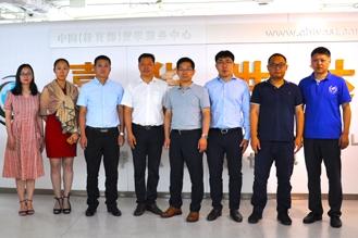 携中国科学院重庆研究院一行访问教育部留学服务中心-嘉华世达公司